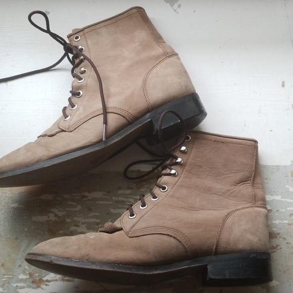 da579d48f4067 JUSTIN Roper Boots Lace Up